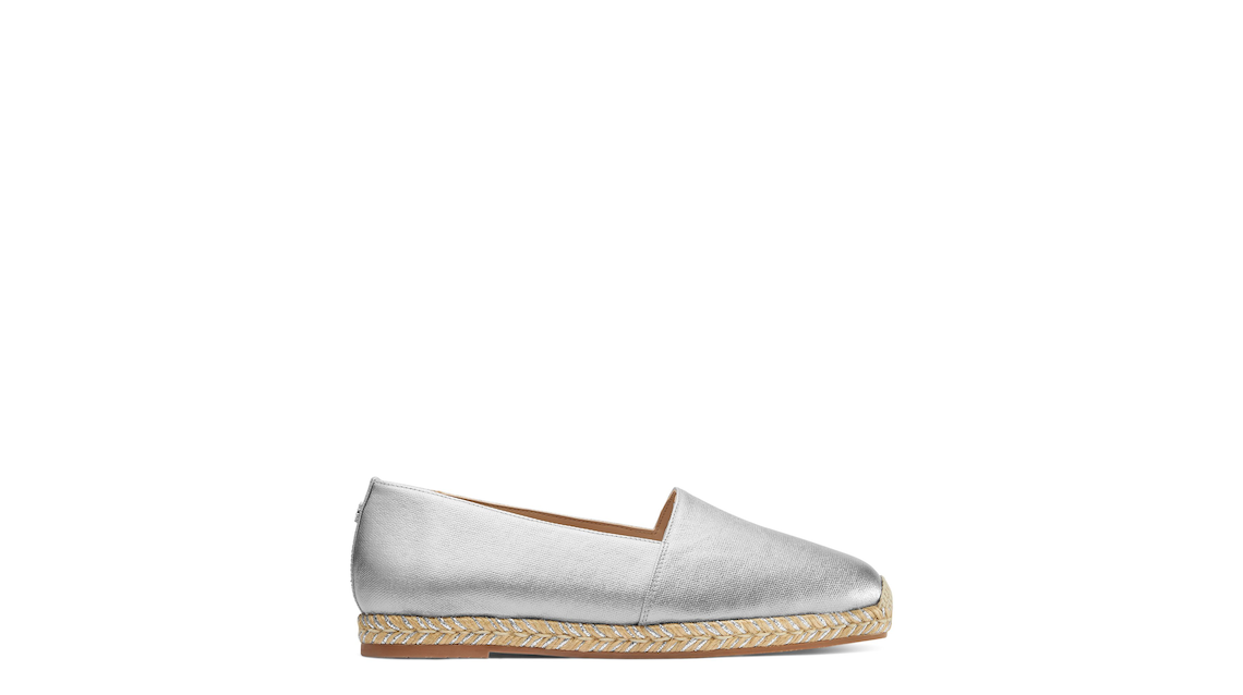 DREE FLAT ESPADRILLE, Silver, Product image number 0