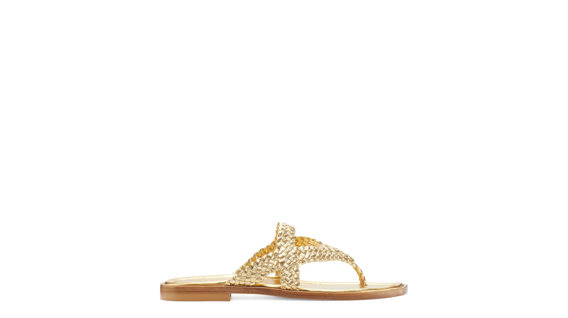 ROSIE FLAT SANDAL, Gold, Product image number 0