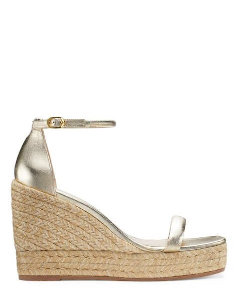 NUDIST ESPADRILLE WEDGE, Platino gold, ProductTile