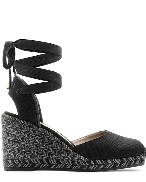 MARGUERITA ESPADRILLE WEDGE , Black, ProductTile
