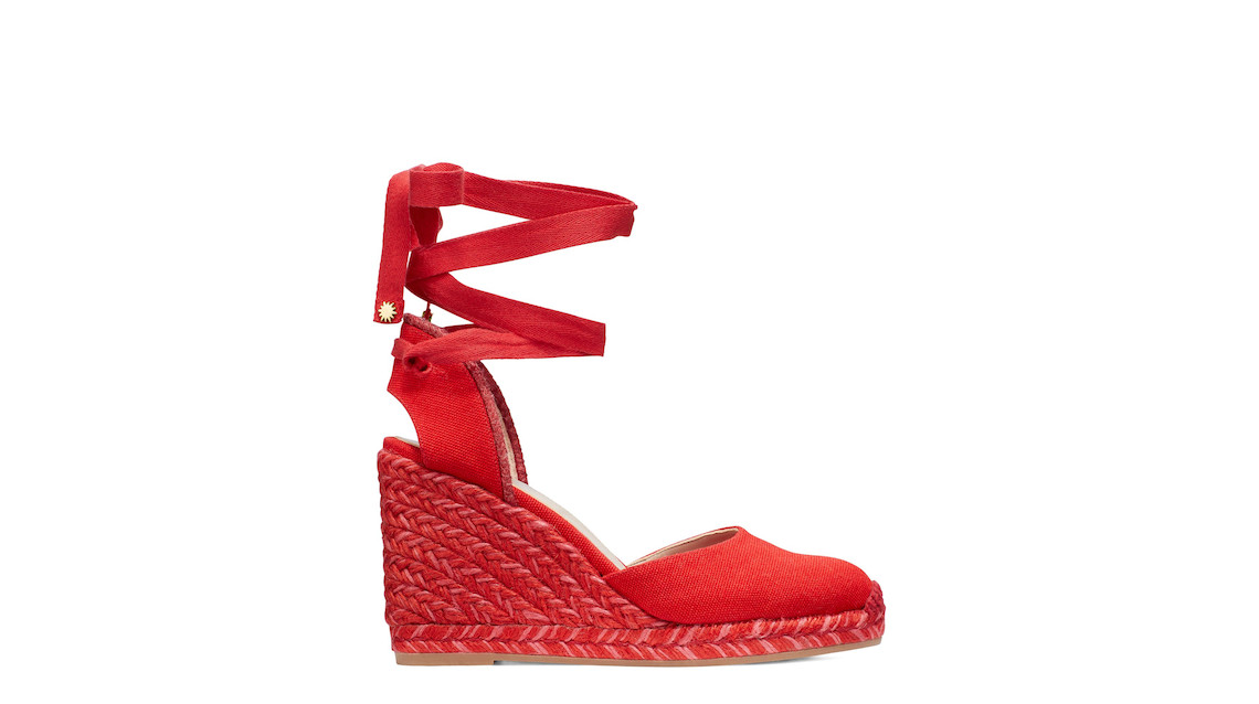 MARGUERITA ESPADRILLE WEDGE , Red, Product image number 0