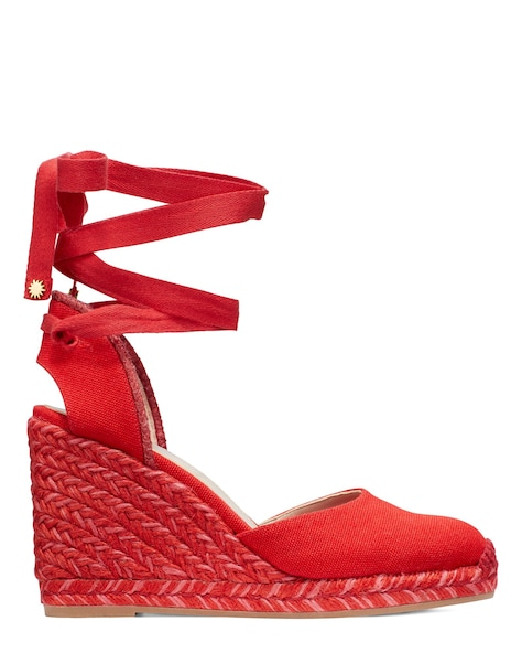 MARGUERITA ESPADRILLE WEDGE , Red, ProductTile