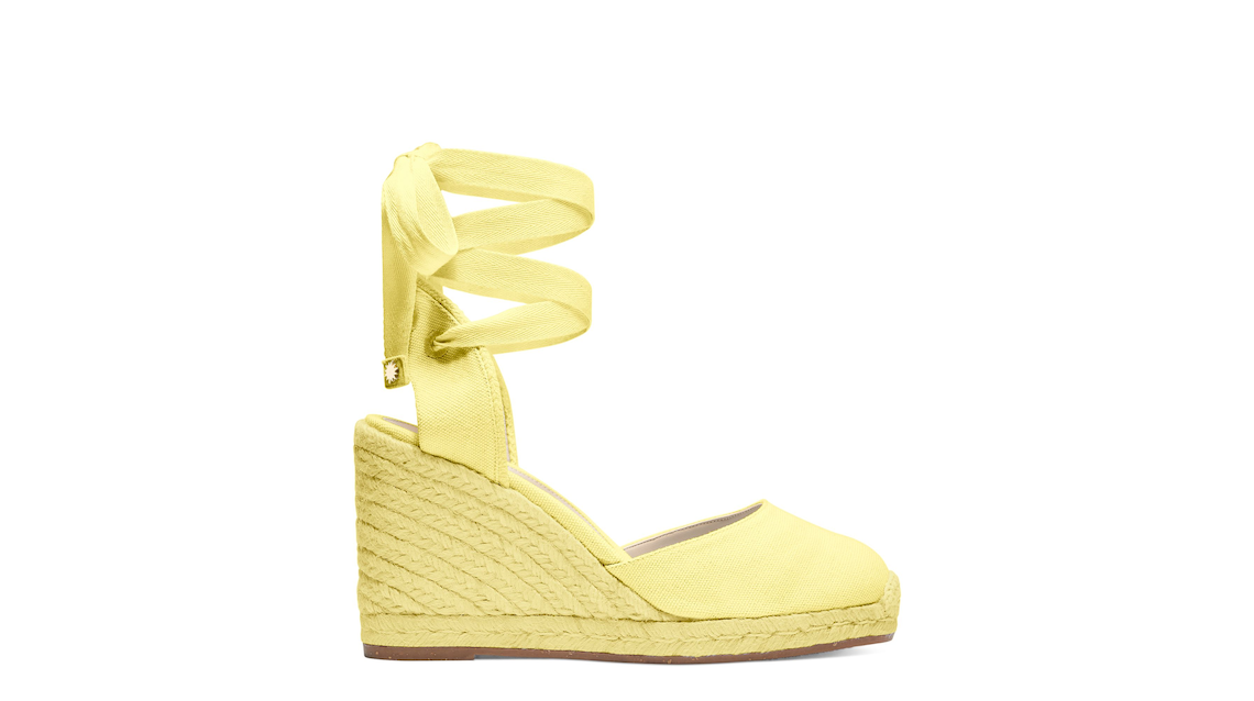 MARGUERITA ESPADRILLE WEDGE , Pale Yellow, Product image number 0