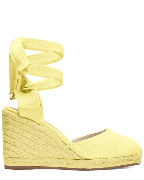 MARGUERITA ESPADRILLE WEDGE , Pale Yellow, ProductTile