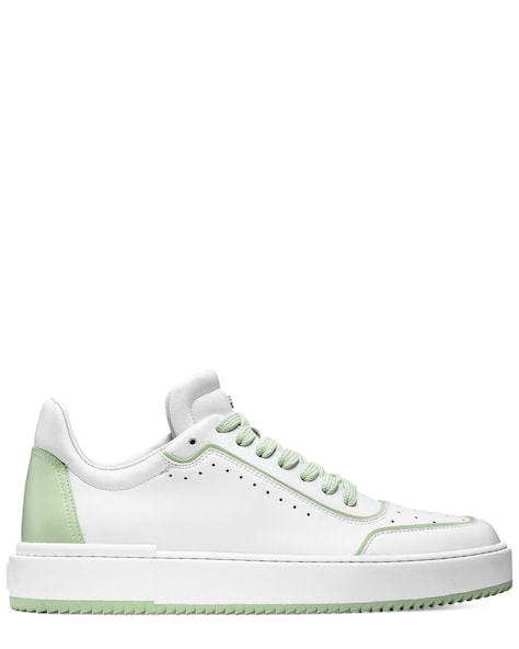 RYAN LOW-TOP SNEAKER, White & quartz green, ProductTile