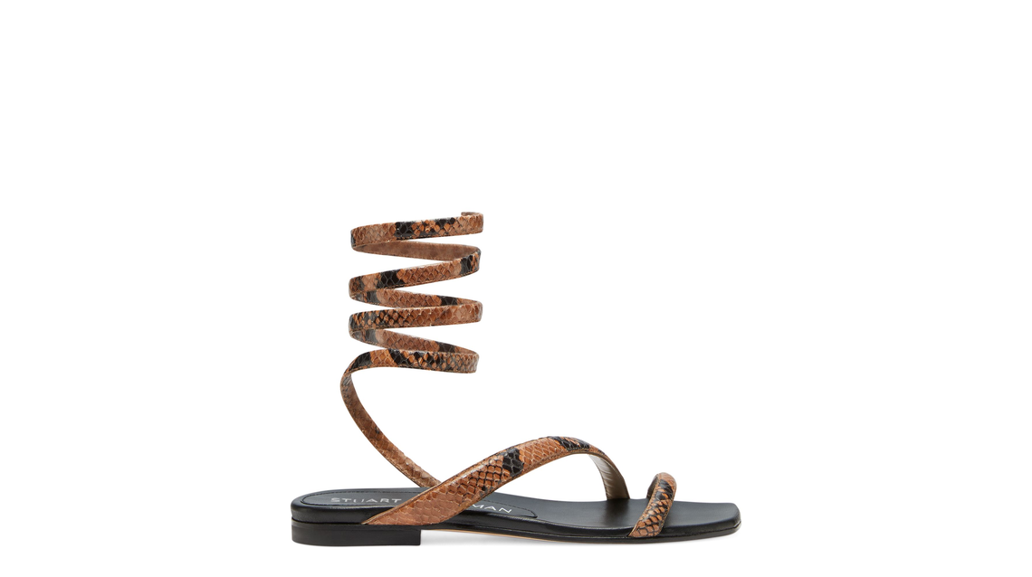 BEATRIX FLAT WRAP SANDAL, Cappuccino, Product image number 0