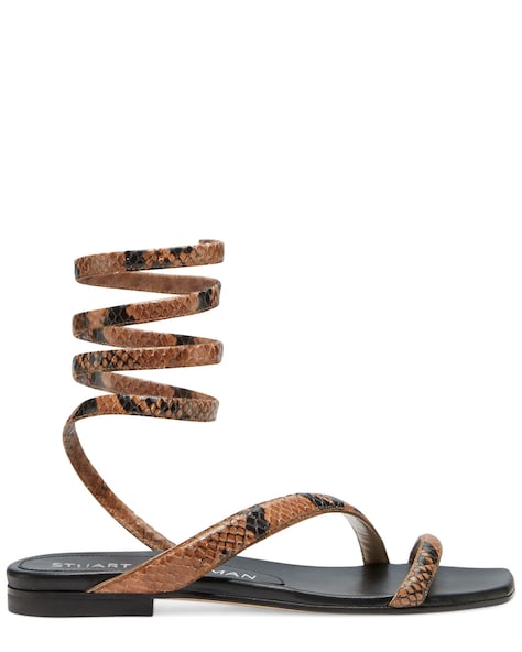 BEATRIX FLAT WRAP SANDAL, Cappuccino brown, ProductTile