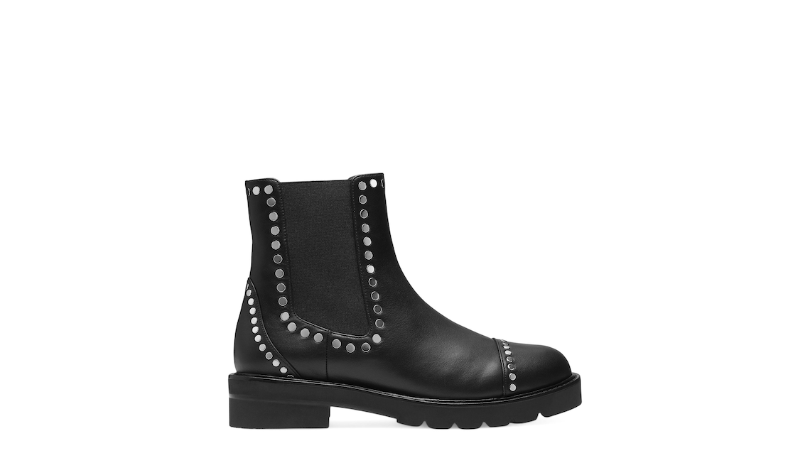 FRANKIE LIFT STUDS BOOTIE, Black, Product image number 0