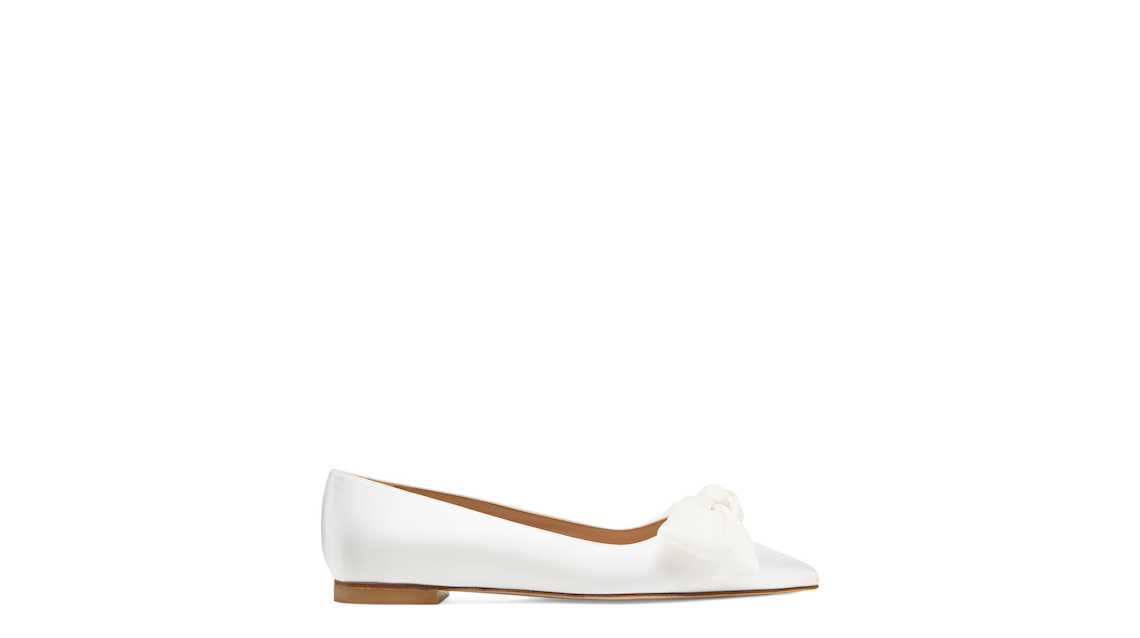 ANNY MESH BOW FLAT, White & Cream, Product image number 0