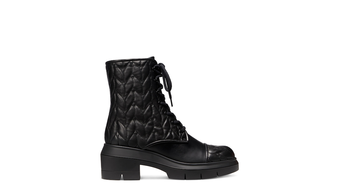 NISHA QUILTED BOOTIE, Black, Product image number 0