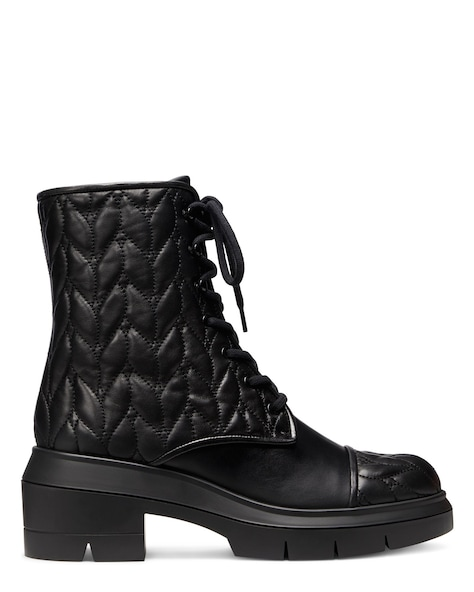 NISHA QUILTED BOOTIE, Black, ProductTile